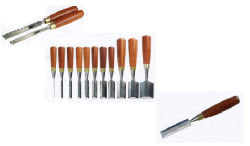 Bevel-edge chisels, butt handled chisels, dovetail chisels, corner chisels
