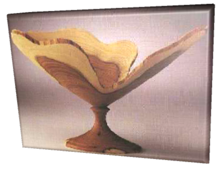 Natural edge goblet turned by Brian Clifford